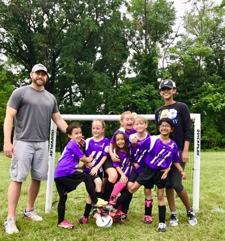 Eric Bross and daughter's soccer team