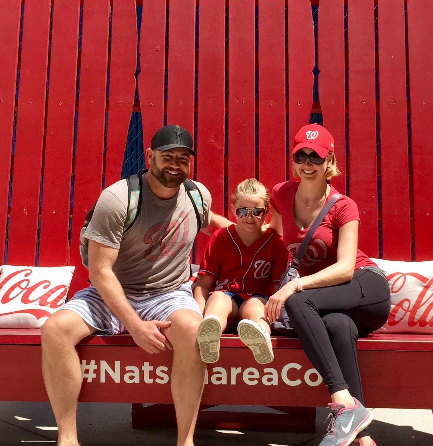 Eric Bross and family at Nationals game