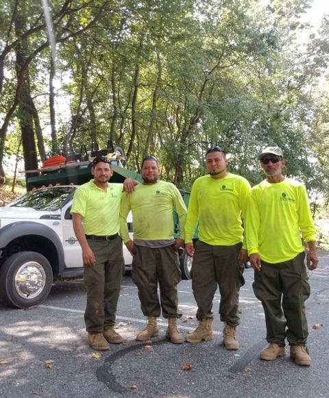 Jose Torres  and Level Green Landscaping crew