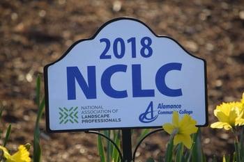 National Collegiate Landscape Competition sign