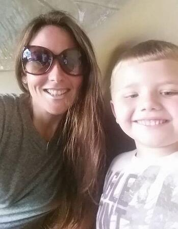 Lindsay Tewell and her son