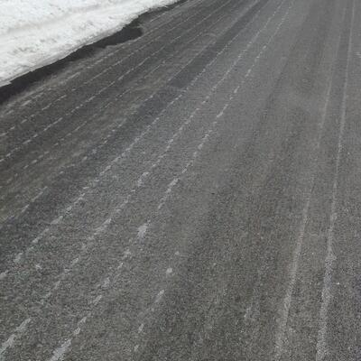 Salt Brine Winter Road Treatment