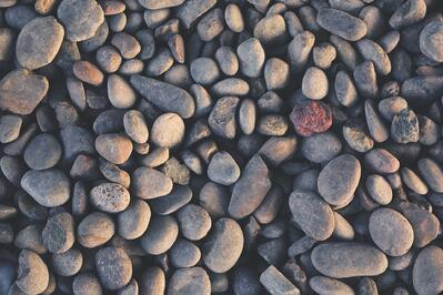 Rock mulch