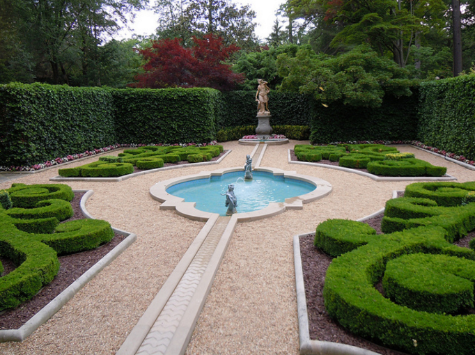 The gardens at Hillwood Estate
