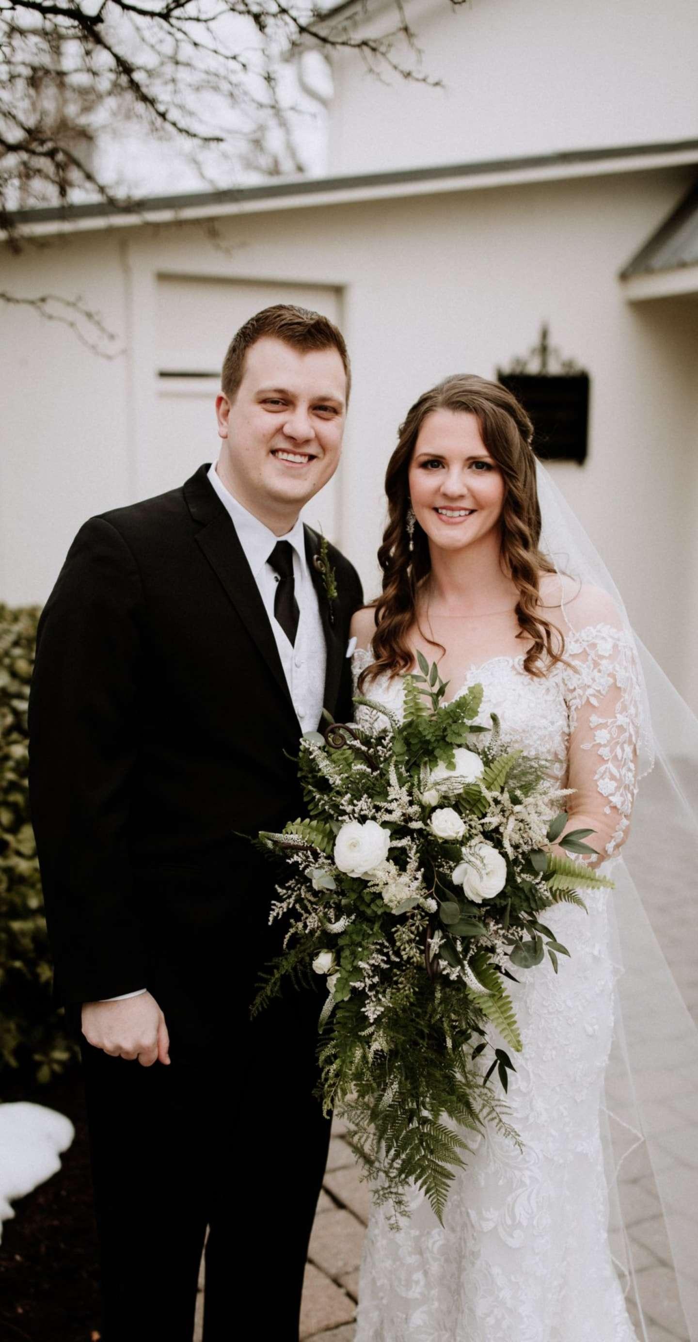 Jenna Visco with her husband