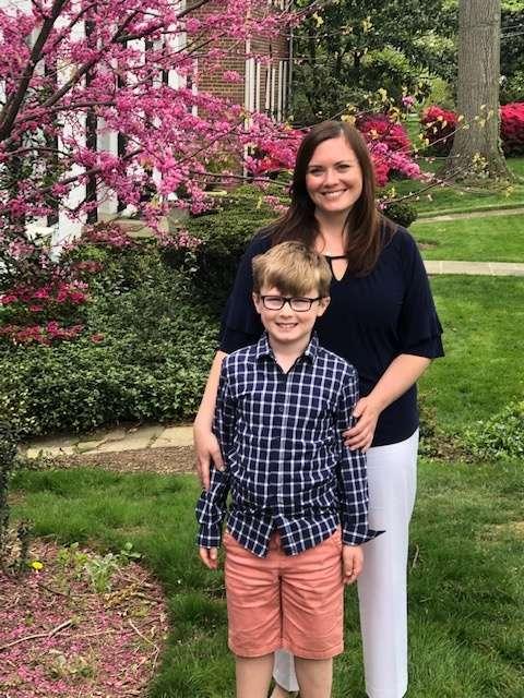 Jennifer Ruggeri with her son Michael