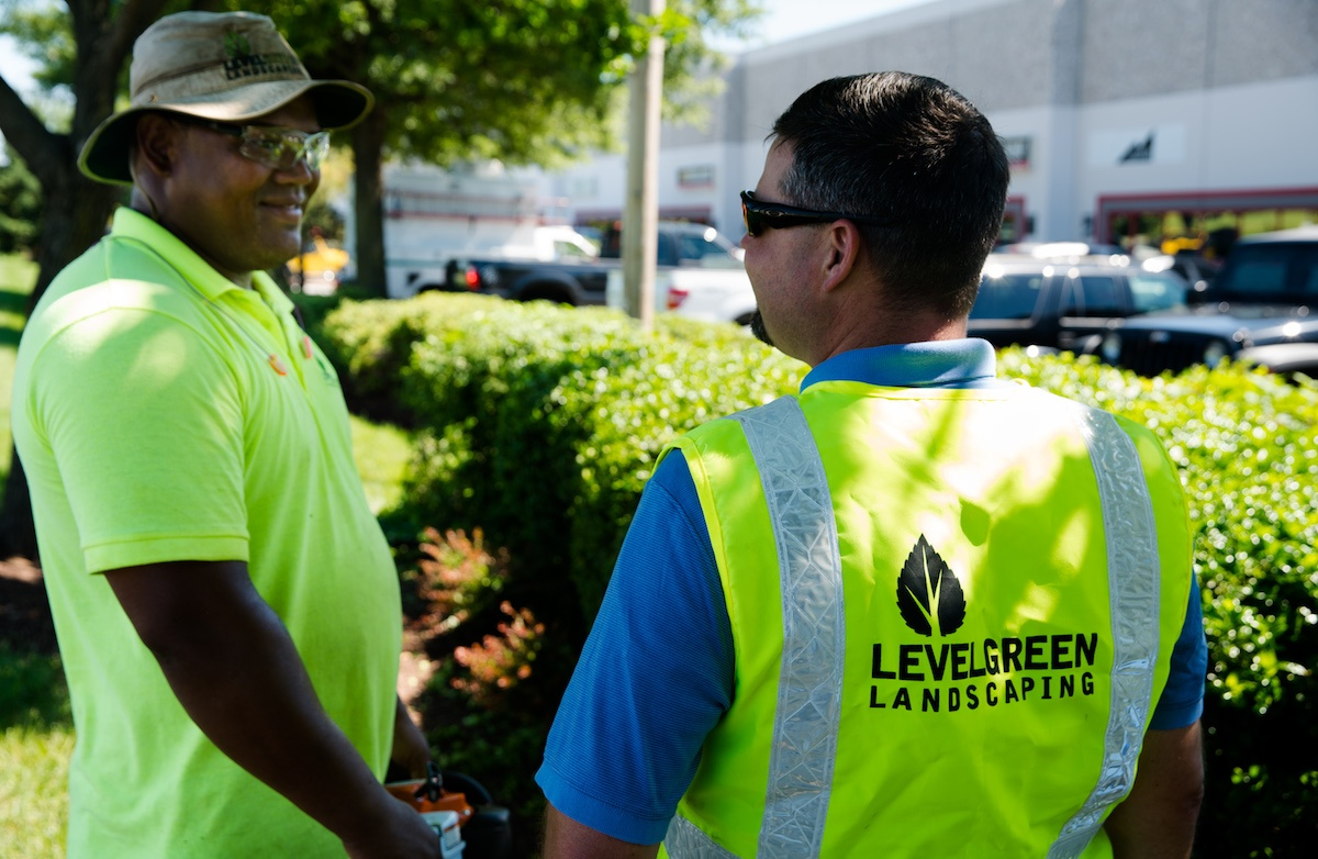 Level Green Landscaping crew preventing pests