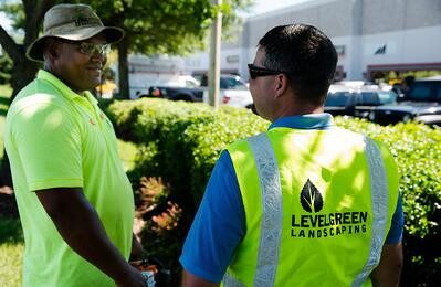 Level Green Landscaping crew