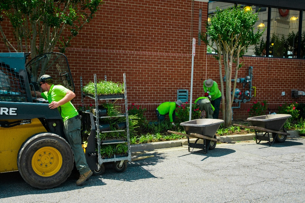Level Green Landscaping crew in uniforms