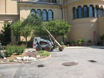 Construction at Franciscan Monastery