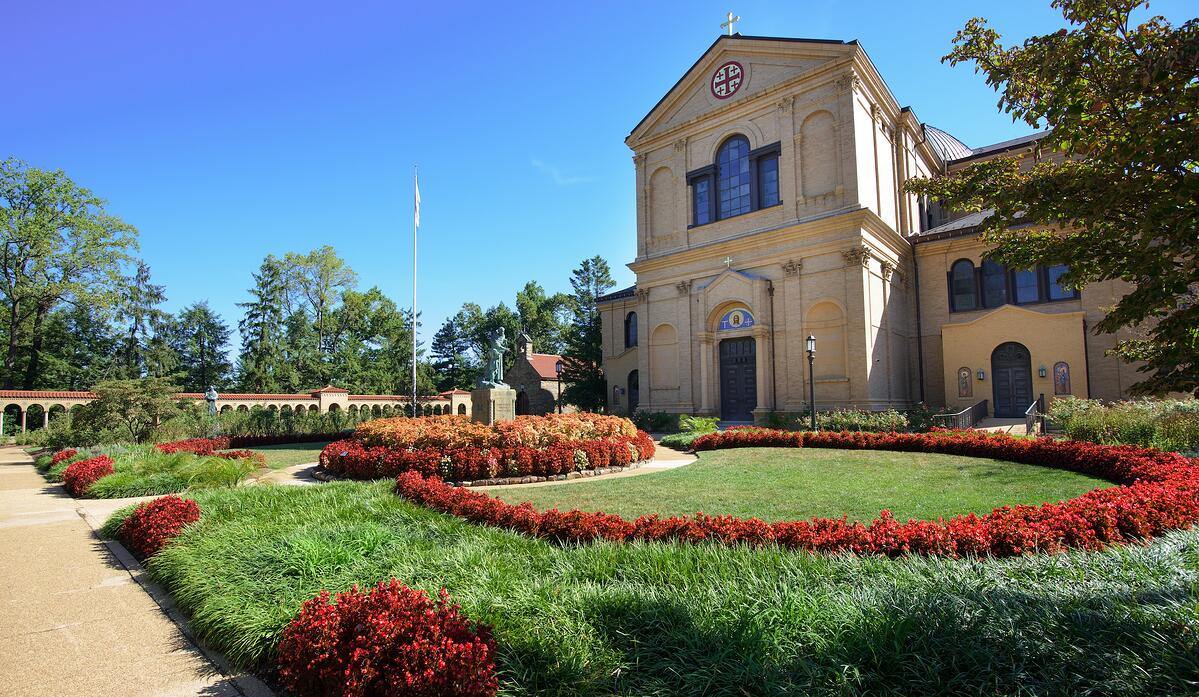Landscape Design in Washington DC at the Franciscan Monastery