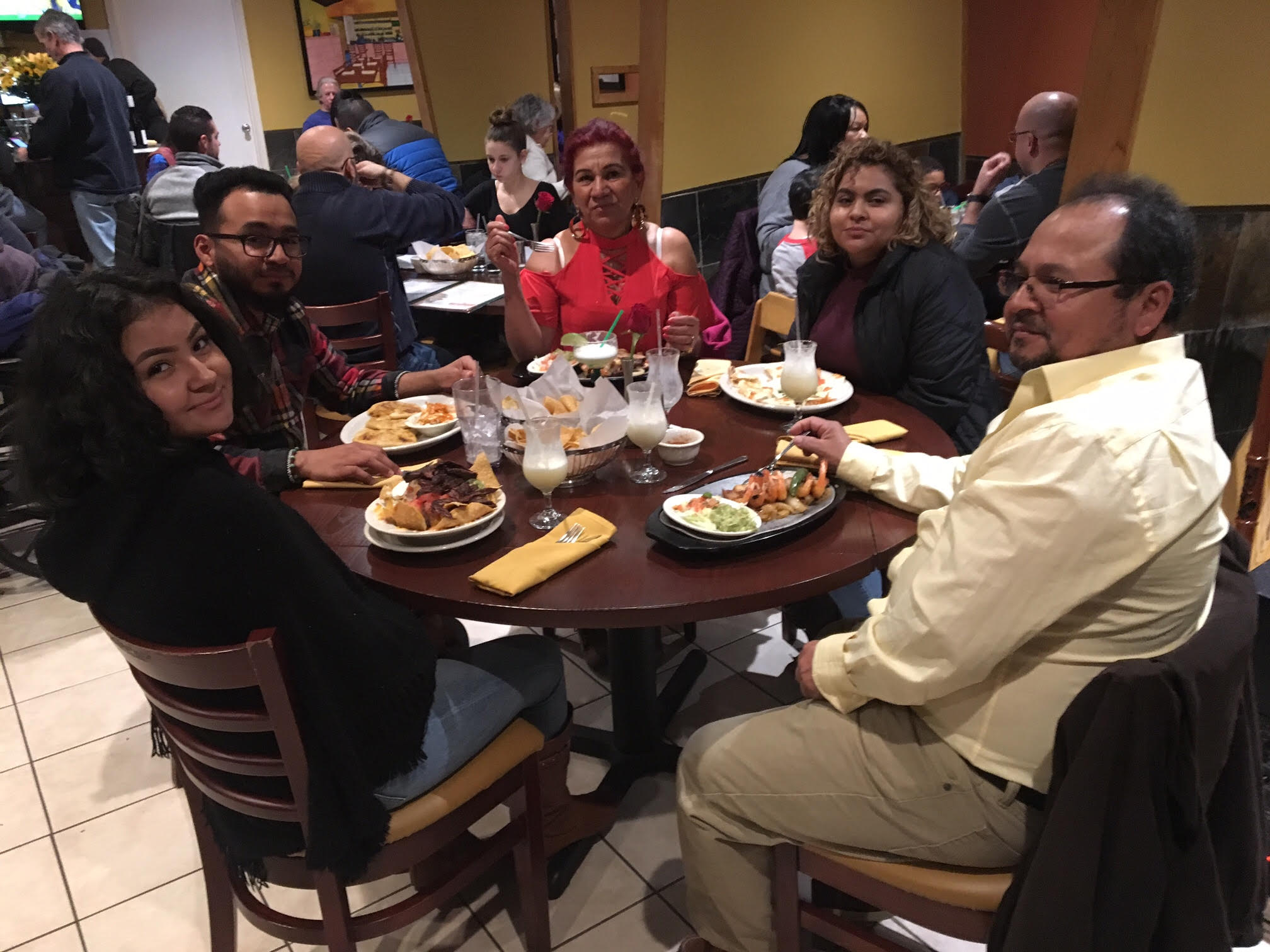 Juan Olivar and his family