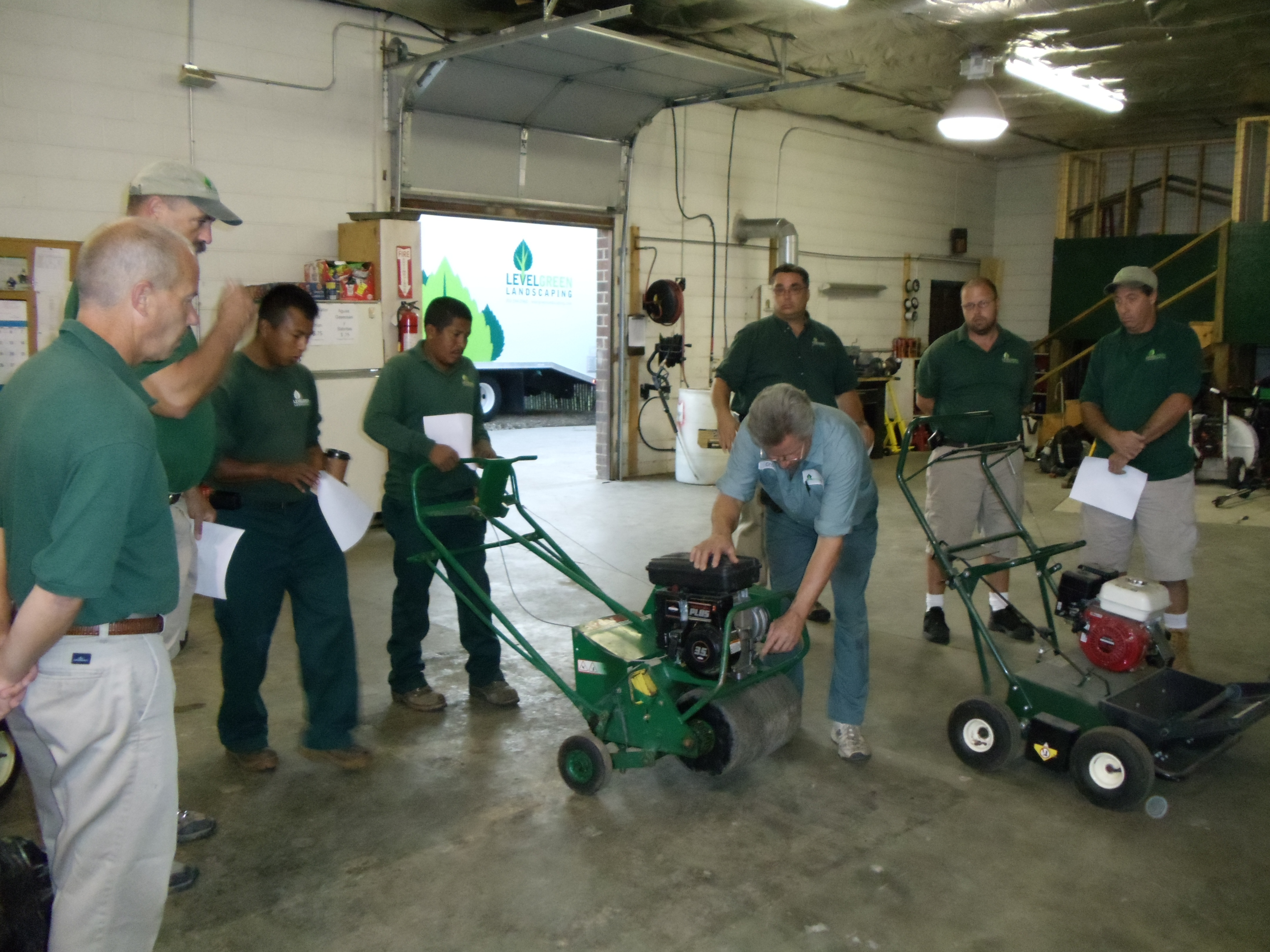 Level Green Landscaping Aeration Training