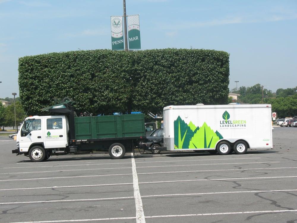 Level Green Landscaping truck & trailer