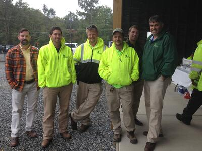 Landscaping company employees