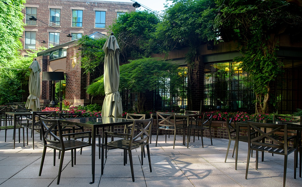 Common area patio and tables