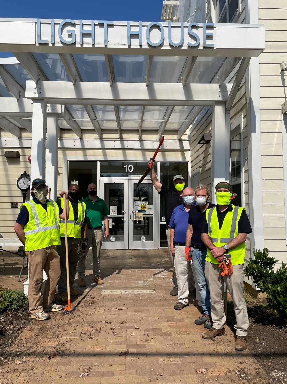 Doing the Right Thing at The Light House: Level Green Volunteers Tackle Spring Clean-Up